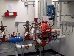 Iowa Fire Equipment Company designs, engineers and installs fire sprinkler systems.