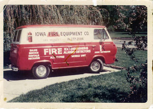 First Iowa Fire Equipment Van
